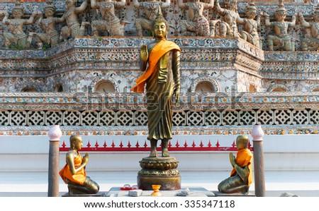 Buddha image faithful in Thailand - stock photo
