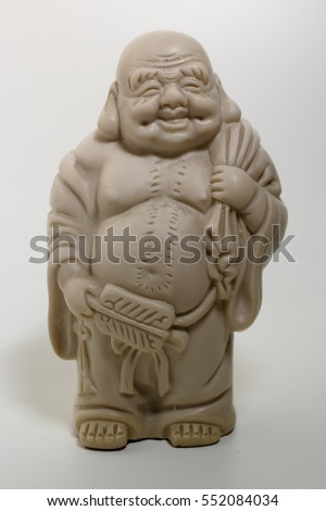 Buddha image in studio with white background