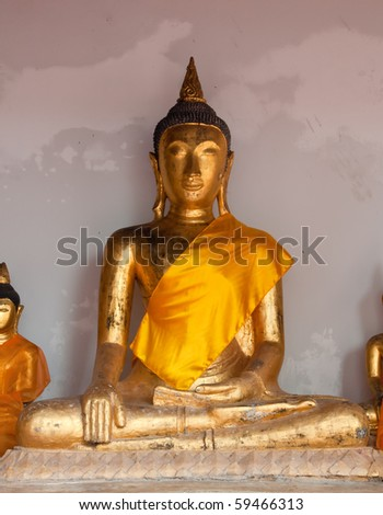 Buddha image in temple.