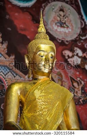 Buddha image in Thailand - stock photo