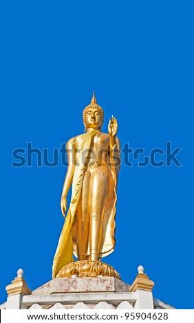 Buddha Image in walking attitude - stock photo