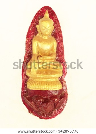 buddha image used as amulets - stock photo