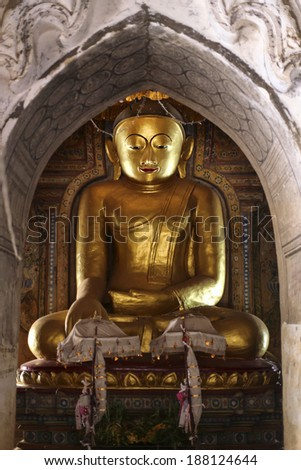 Buddha in Bagan, Myanmar - stock photo