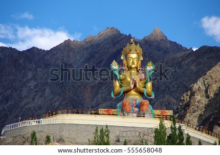 Buddha in Diskit in Ladakh, India