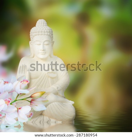 Buddha in meditation - stock photo