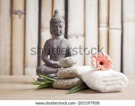 Buddha in meditation, religious concept  - stock photo