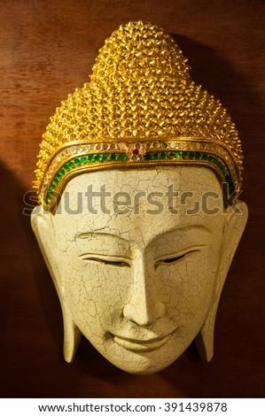 Buddha mask for home decoration - stock photo