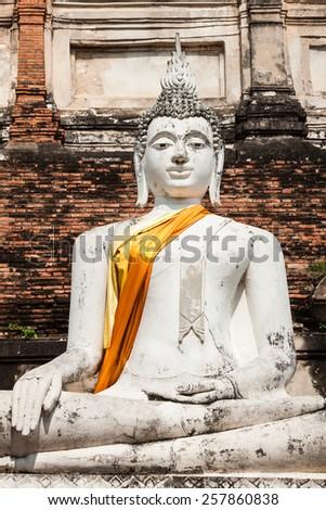 Buddha of statue in Ayutthaya Thailand - stock photo