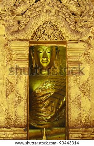 Buddha of Wat Phra Dhat Lampang Luang.Lampang Province,Thailand - stock photo
