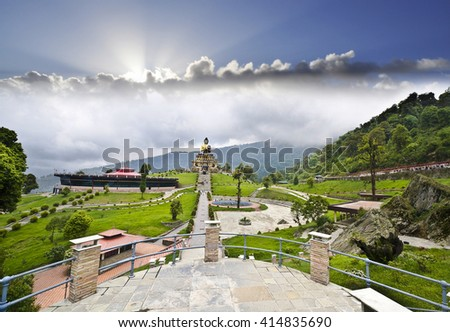 Buddha Park at South Sikkim - stock photo