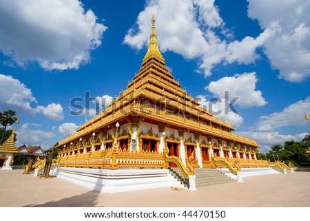 Buddha's relics is named Kham-kaen is a landmark in Thailand. - stock photo