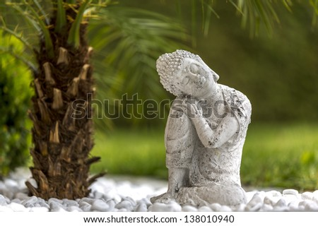 buddha, sitting - stock photo