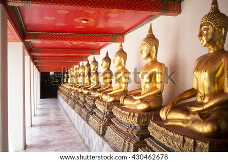 Buddha statue at Wat Arun, Bangkok Thailand - stock photo