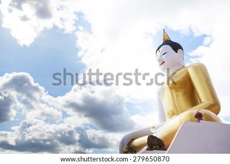 Buddha statue  Chiang mai, thailand - stock photo