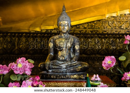 Buddha statue in Thailand - stock photo