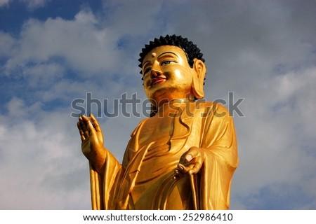 Buddha statue in Ulan Bator . Mongolia - stock photo