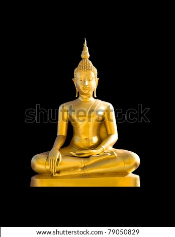 buddha statue on black backgrounds