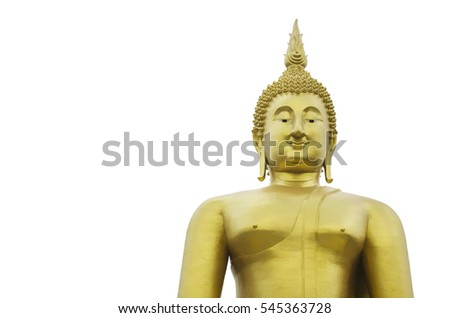 Buddha statue on isolate white background