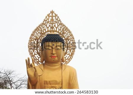 Buddha statue on the island of Jeju South Korea - stock photo