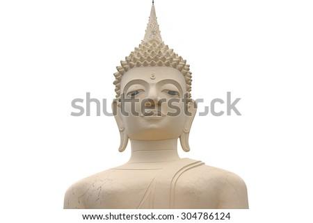 Buddha statue on white - stock photo