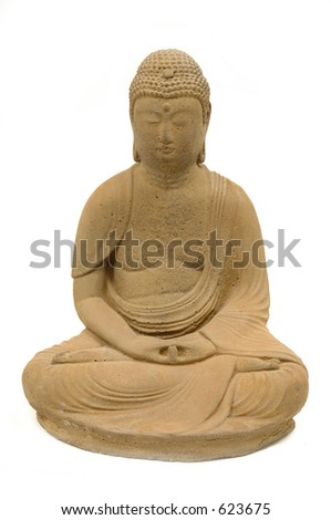 buddha statue on white