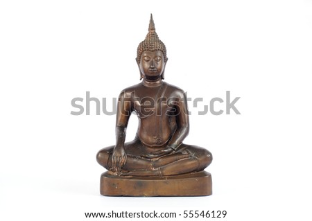 Buddha statue on white background