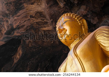 Buddha statue ,Thailand - stock photo