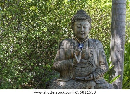 Buddha statue with natural background, buddhism religion