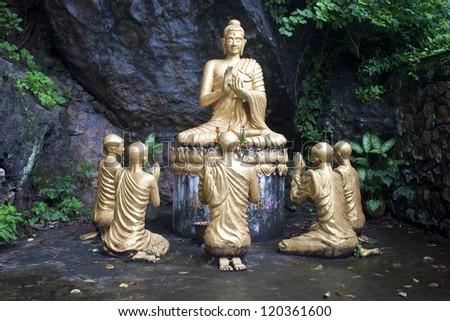 Buddha statues in Luang Prabang, Laos - stock photo