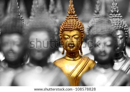 buddha status - stock photo