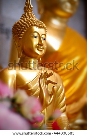 Buddha, The art of sculpture spectacular in Thailand, selective focus