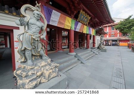 Buddha Tooth Relic Temple in Chinatown in Singapore - stock photo