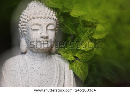 Buddha under a tree  - stock photo