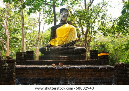 Buddha was destroyed due to damage.