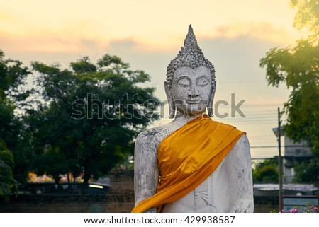 Buddha with smiling face and happy look very calm