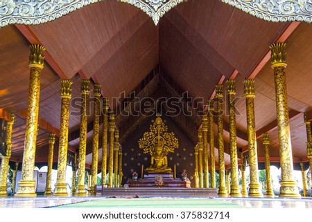 Buddhas in temple thailand