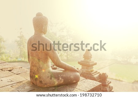 Buddhas statue - stock photo