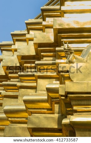Buddhist dagoba (stupa) close up in Golden Temple