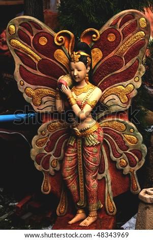 Buddhist garden statue, Pattaya, Thailand. - stock photo