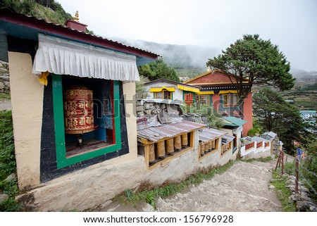 Buddhist monastery in Khumbe valley