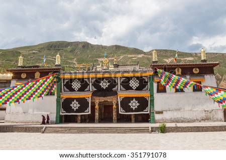 Buddhist monastery in Rebkong (Tongren) in Qinghai province, China