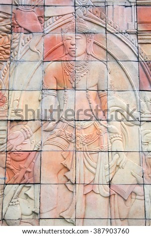 Buddhist stone carvings in Thailand