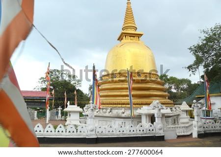 Buddhist stupa in Dambulla (Sri Lanka) - stock photo