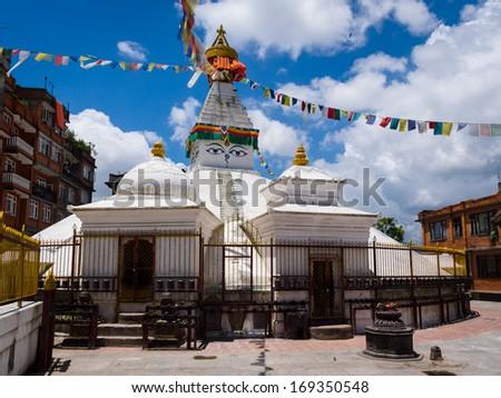 Buddhist Stupa in Patan, Kathmandu, Nepal - stock photo
