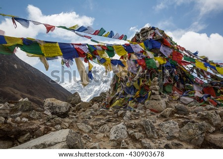 Buddhist stupa on the track to Everest Base Camp