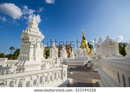 Buddhist Temple in day time - stock photo