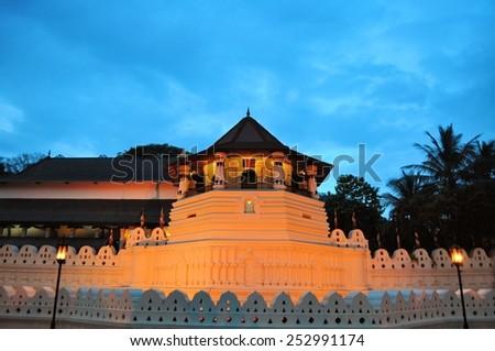 Buddhist Temple of the Tooth, Kandy, Sri Lanka - stock photo