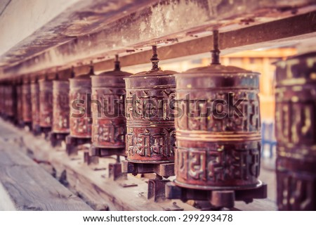 Buddhist tradition for praying - stock photo