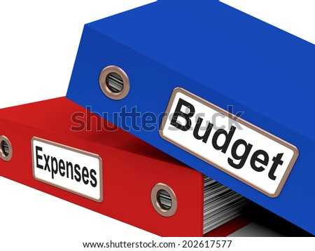 Budget Expenses Meaning Outgoings Correspondence And Costing