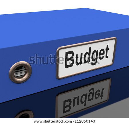 Budget File With Reports On Spending Plan